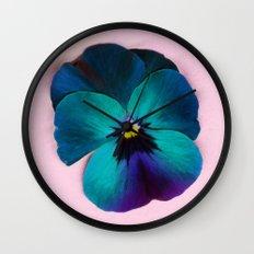 Viola tricolor Wall Clock