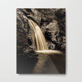 Sepia Waterfall, Stowe Vermont Metal Print
