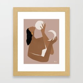 day and night Framed Art Print