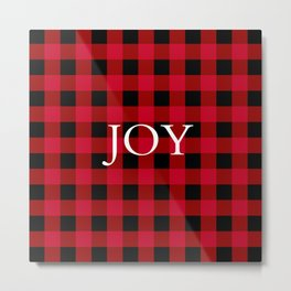 Joy Red Buffalo Check Metal Print