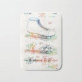 Ice Skate Patent - Sharon Cummings Bath Mat