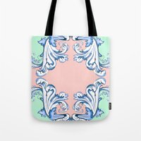 baroque Tote Bags featuring Baroque by Charlotte Goodman