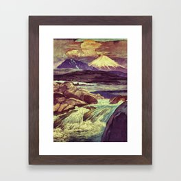 The Rising Fall Framed Art Print