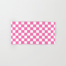 Checkers - Pink and White Hand & Bath Towel