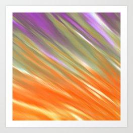 Tangerine Aurora Art Print