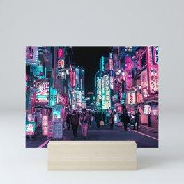 Heart Full Of Neon: Cyberpunk Overload Canvas Print Mini Art Print