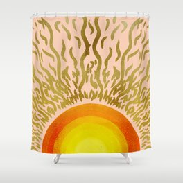 The sun within vintage Shower Curtain