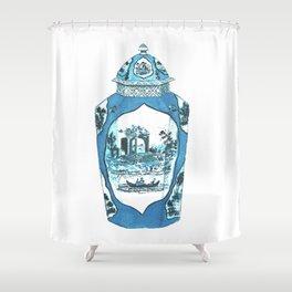 ROYAL WORCESTER JAR Shower Curtain