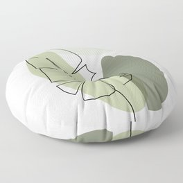 Living foliage Floor Pillow
