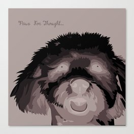 Travis The Schnoodle Canvas Print
