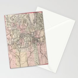 Vintage Map of Colorado (1884) Stationery Cards