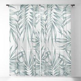 Palm Leaves #society6 #buyart Sheer Curtain