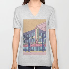 North Center Street - Reno, USA Unisex V-Neck