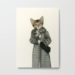 Kitten Dressed as Cat Metal Print