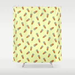 Carrot whimsical pattern Shower Curtain