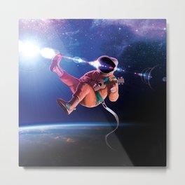 Space Uke  Metal Print