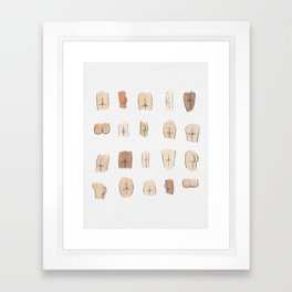Butts Framed Art Print