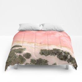 iOS 11 Rose Gold iPad background Comforters