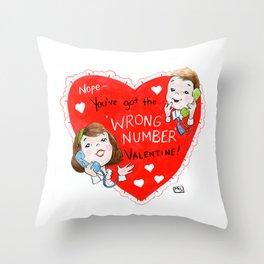 Wrong Number Throw Pillow