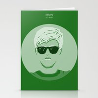 breakfast club Stationery Cards featuring The Breakfast Club - Brian by Pri Floriano