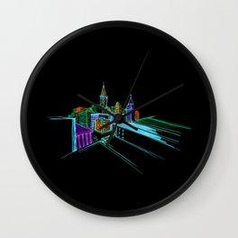 Vibrant city 2 Wall Clock