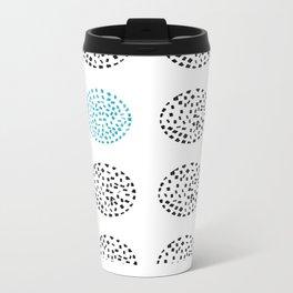 Blue Circle Metal Travel Mug