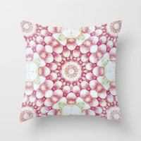pomegranate Throw Pillows featuring Pomegranate by Truly Juel
