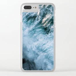 Wave in Ireland during sunset - Oceanscape Clear iPhone Case