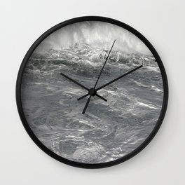 Roiling in Almost Black and White Wall Clock