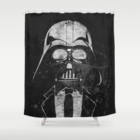 bane Shower Curtains featuring Darth Vader Gentleman by Sitchko Igor