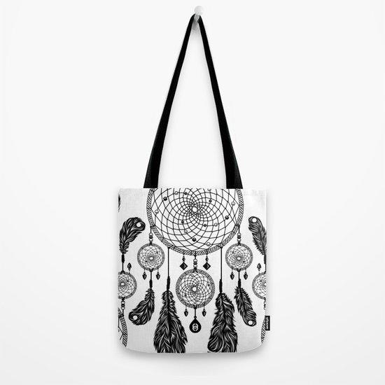 Dreamcatcher (Black & White) Tote Bag