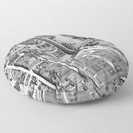 Map of Paris 1793 Floor Pillow