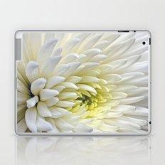White Dahlia Flower Laptop & iPad Skin