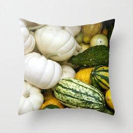Fall Squashes Throw Pillow