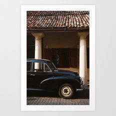 Old car in Galle Art Print
