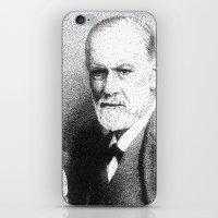 freud iPhone & iPod Skins featuring Sigmund Freud (Pen Pointillism) by Daniel Point