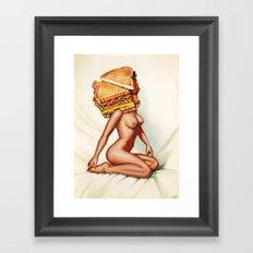 Sandwich Girl Framed Art Print