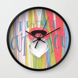 I Will Cut You Wall Clock