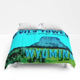 Devils Tower Wyoming Comforters