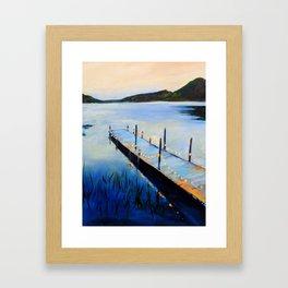Evening at the Lake Gerahmter Kunstdruck