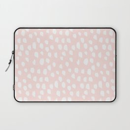 Hand drawn dots on pink- Mix&Match with Simplicty of life Laptop Sleeve
