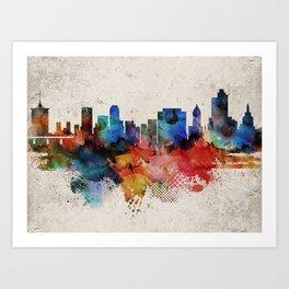 Tulsa Abstract Skyline Art Print