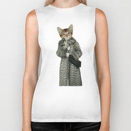 Kitten Dressed as Cat Biker Tank