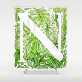 Letter N Shower Curtain