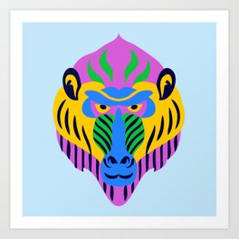 Bohemian Monkey Art Print