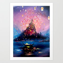 I see the lights Art Print