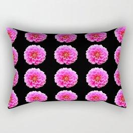 Pink and Black Rectangular Pillow