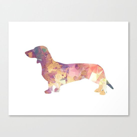 Dachshund hunt art print Canvas Print