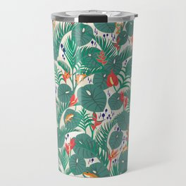 Tropical Frogs in the Jungle - Cream Travel Mug