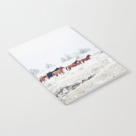 Winter Horse Herd Notebook